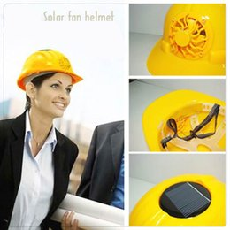 Wholesale Solar Fan Helmet Safety Helmet With Fan Solar Fan Hat Cap No Power Fan Engineering Construction Cap Hat Motorcycle Solar Fans Helmet