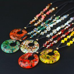 Wholesale Statement Necklaces hot selling coloured glaze sweater chain long sweater chain necklaces for women