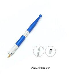 Permanent Makeup eyebrow tattoo Pen Microblading tattoode eyebrows permanent eyeliner tebori pen with 2 pcs