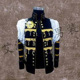 Wholesale Satin Night Suits - Best Man coat Suits Groom Tuxedos Men's stage Suit Wedding Singer performance service Night performing wear