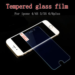For iphone 4 4S 5 5C 5S 6 6Plus Front Tempered Glass Screen Protector Film