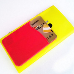 Promotional gift 3M sticker silicone wallet credit card holder business card holder,OEM LOGO credit card holder for iphone 6s for samsung