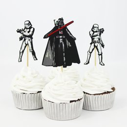 Wholesale 120pcs Star War Cake Decorating Tools Fruits Cupcake Inserted Card Stands Baking Supplies for Kids Birthday Xmas Decoration