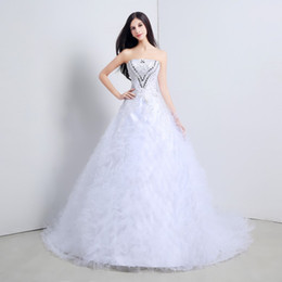 Vestidos De Novia Wedding Dresses With Crystal Beaded Sheer Tulle Made in China Elegant Bridal Gowns 2015