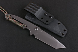 Strider knives U.S. strike team combat knives,D2 steel integrated +rope outdoor survival knife camping hunting knife with K sheath