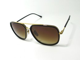 Wholesale Dita Avocet Two Sunglasses Antique Gold Black Frame New Glasses Eyewear With original Case Unisex