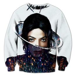 Wholesale Real USA Size Xscape Icon Michael Jackson Fashion D fleece Sweatshirt All over print Sweatshirt Crewneck Plus Size
