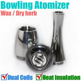 Bowling Atomizer rebuildable Vase cannon heat insulation tank double Dual coil Vape Herbal vapor wax Dry Herb vaporizer pen e cigatette