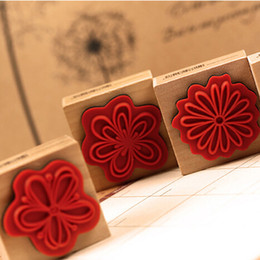 Wholesale Creative Flower Love Heart Season DIY Wood Stamp Student Diary Gallery Decorative Art Stamp Promotion SK776