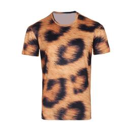 New Arrival men's Leopard print creative T-shirt, Summer Short Sleeve Casual 3D T Shirt,B113,Free Shipping