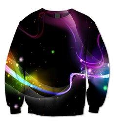 Wholesale Real USA Size Desktop Swirl View D sublimation print fashion fleece Sweatshirt crewneck Plus Size