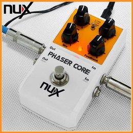 Efectos de modulación en Línea-Buena Durabilidad Pedal de efectos Core NUX Phaser True Bypass Modulación Stomp Pedal de efectos de guitarra Multifuncional