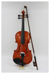Wholesale 1 Student Wood coffee blue colour Solid Wood Violin with hard Case Bow Rosin for beginners