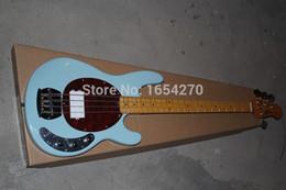 2017 hombre de raya de música El envío libre 2016 nueva guitarra eléctrica de la secuencia del Stingray 4 del hombre de la música de la llegada de la alta calidad en azul de cielo en la acción 151112 hombre de raya de música limpiar