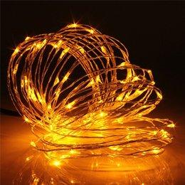 El mejor precio llevó las luces de navidad en venta-Al por mayor-El mejor precio 10M 100 LED USB Operado hadas de la secuencia del alambre de cobre flexible Luz de Navidad Fiesta de Navidad decoración de la boda de la lámpara 5V