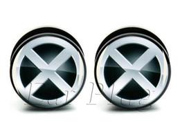 Wholesale 6-25mm gauges 60pcs bag body piercing X man ear plug gauges tunnel ear expander ASP0046