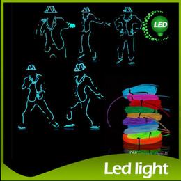 Flexible Glow Neon Light Waterproof EL Wire Rope Tube 3M Muti Color Party Decoration Halloween Xmas Light