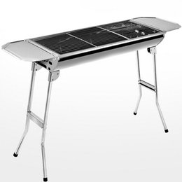 Wholesale Stainless steel Charcoal Grils barbecue BBQ Grills Outdoor Portable Barbeque BBQ Party Stand for Barbeque DHL Free JJD2036