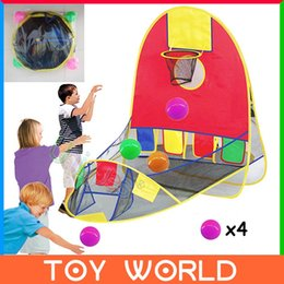 Wholesale Free Ship Ball Scoring Tent Children Play Tent Play House Basketball Basket Beach Lawn Tent Ball Pool Outdoor Sport Best Kid Toy A3