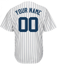 Wholesale Cheap Baseball Jerseys Custom Made Yankees Jersey Customized Embroidered Personalized Name Number Team Logo