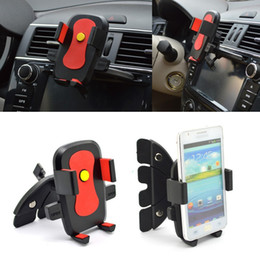 Wholesale-New 360 Degree Rotating Car CD Dash Slot Mobile Phone Holder Mount for iPhone 6 5S 5C 4S For Samsung suporte celular carro
