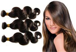 Wholesale Brazilian Body Wave Hair Weaves A Best Quality Virgin Human Hair Extensions Peruvian Malaysian Indian Cambodian Brazilian Human Hair Weaves