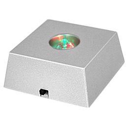 Wholesale FS Hot LED Colorful Light Crystal Figurine Display Stand order lt no track