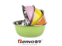 Wholesale cm Korea Stylish Multi color stainless steel soup bowl salad egg bowl thickness mm for fruit BBQ baking tool