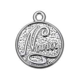 20pcs double sided engrave nana disc charm