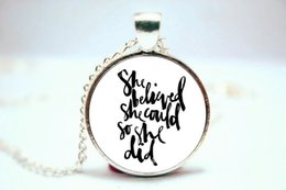 Wholesale 10PCS She Believed She Could So She Did R S Grey Quote Flying Birds Necklace