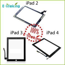 Wholesale 20PCS For iPad Touch Screen Digitizer Assembly Glass Front Lens Replacement Part for iPad White Black DHL
