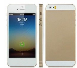 Wholesale 1 quot Goophone i5 i5S Dual Core MTK6572 GHz GB Rom Android GPS WiFi G WCDMA Nano Sim Card MP MeltaBody Smartphone