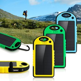 12000mAh LED Dual USB Solar Panel Portable External Power Bank For Mobile Phone with Retail Package