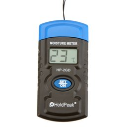 Wholesale HoldPeak HP GD quot in Mini LCD Temperature Humidity Tester Analyzers Concrete Wood Building Material Moisture Meter E0085