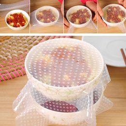 New Arrival 16x16cm Multifunctional Silicone Food Seal Film Fresh Keep Food Plastic Wrap Preservative Film For Refrigerator JE0079 Kevinstyl