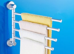 Wholesale New Arrival Bathroom Kitchen Space aluminum Towel Racks Movable Rod Towel Holder Clothes Towel Rack