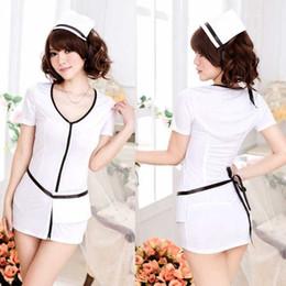 Free shipping sexy lingerie white uniforms temptation female sexy nurse wear nursing uniforms role-playing beauty seductive enchanting