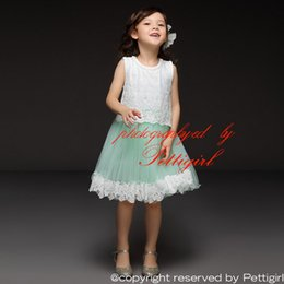 Wholesale Pettigirl Retail Girls Dresses Sleeveless Lace Bodice And Tulle Skirt Casual Dresses For Kids Girls Dresses Clothing Drop Shopping GD50325