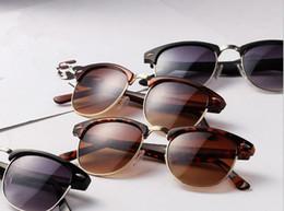 Compra Online Vidrios del caminante-Vidrios retros del capítulo del caminante de las gafas de sol del Medio-marco del envío de las mujeres libres del Mens