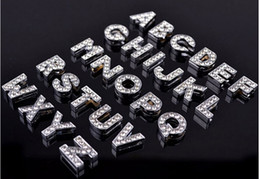 (500 Pieces lot) 8MM 10MM A-Z Rhinestone Letter Charms for DIY Pet Name! DIY Dog Cat Pet Collar Slide Charm Letters