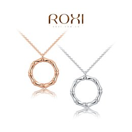 2015ROXI New Fashion Top Quality PromotionGold Plated Chain Link Necklace Woman Man For charm Pendant Rose
