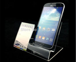 Wholesale Acrylic Stand Holder For Cellphone Acrylic Mobile Cell Phone Display Stand With Price Label Holder