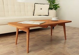 Wholesale Low Coffee Table Folding Legs Rectangle Colors Living Room Furniture Contemporary Sofa Side Center Coffee Table Wooden