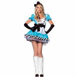 Wholesale Alice in Wonderland Maid Costume Women s Halloween Costume Cosplay Victorian Gown Custome