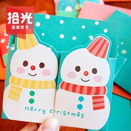 Wholesale-[ Optical pickup ] embrace Christmas Christmas card   card suit Comments   folding card 10   set^greeting card