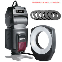 Wholesale Godox ML Macro Ring Flash Light Guide Number with Lens Adapter Rings for Canon Nikon Pentax Olympus DSLR cameras D2864