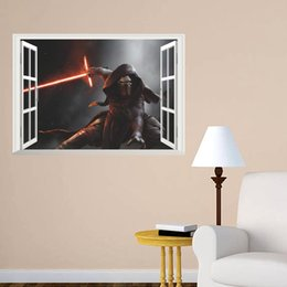 star war The Force Awakens Sith Lord Alderaan Han Solo 3d window wall stickers kids room decor 1479. home decals movie art 4.5 home decorati