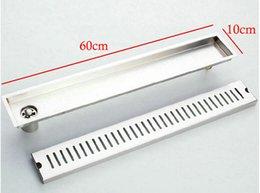 Wholesale 60cm quot Large traffic stainless steel floor waste drain linear side drain wj10
