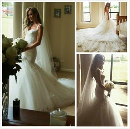 2016 New Luxury Backless Wedding Dresses with Straps Mermaid Sweetheart Tiered Skirts Appliques Lace Bridal Gowns Plus Size Wedding Gowns