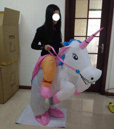 SX1020 free shipping light and easy to wear inflatable unicorn mascot costume for adult to wear